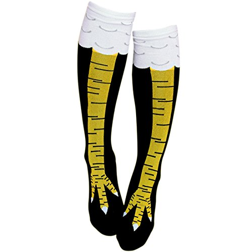 Gmark Fitness Novelty Socks, Women's Fun Chicken Legs Image Stockings Team Tube Socks 1 Pair Size -