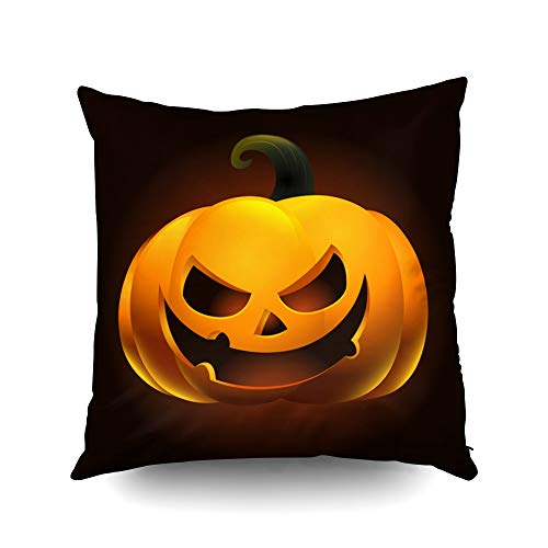 Capsceoll Halloween Halloween Pumpkin for Decoration Decorative Throw Pillow Case 20X20Inch,Home Decoration Pillowcase Zippered Pillow Covers Cushion Cover with Words for Book Lover Worm Sofa Couch
