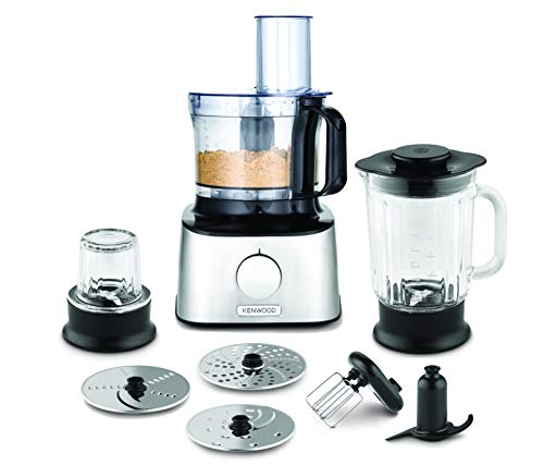 Kenwood FDM302SS Multipro Compact Food Processor, 800 W, Silver