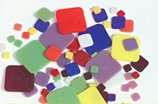 Wasser Fusible Glass Shapes - Squares - 3-1/2 oz. Bag