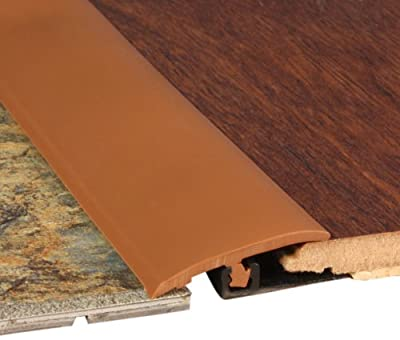 Cal-Flor TT10255S Total Trim All-In-One Solid Color Molding, 94-Inch, Cinnamon
