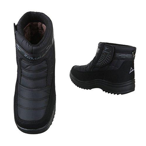 e80086032225f6 Ital-Design Winter- Schneestiefel Herren Schuhe Warm Gefütterte  Klettverschluss Stiefel  Amazon.de  Schuhe   Handtaschen