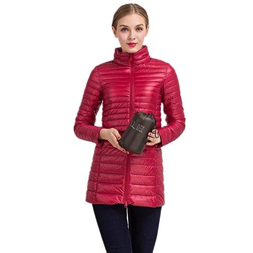Veste 4XL Courte taille Longues S Duvet iHAIPI Rembourre Parka Hiver Femme pour Rouge de Manches Blouson Doudoune Grande Zippe Ultra Manteau Hiver Lgre 1HwHnAt7q