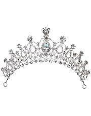 Large Capacity Outdoor Equipment Wedding Tiara for Bride, Rhinestone Crown