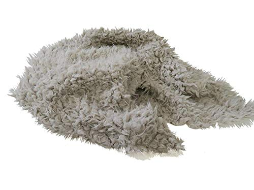 Custom Photo Props, Faux Fur Newborn Photography Basket Stuffer Prop, 20 Inches by 32 Inches, Lamb Lullaby Soft Cream