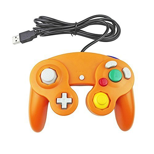 Generic Classic Nintendo Gamecube Style USB Wired Controller Gamepad for PC and Mac Orange