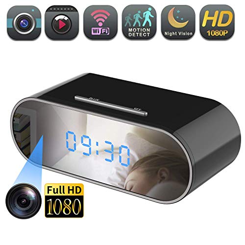 Hidden Spy Camera Wireless Hidden,Sunggo 1080P Clock Hidden WiFi Cameras Wireless IP Camera for Home Security Monitoring Nanny Cam with Night Vision Motion Detection Remote Viewing via APP