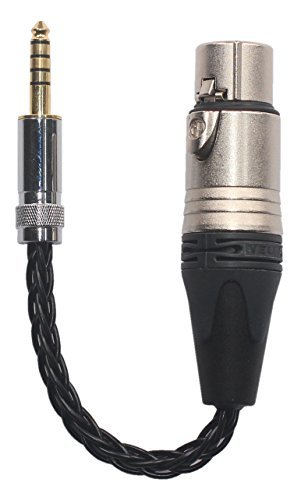 1A-4X 4.4MM Male to 4-pin XLR Female Headphone Balanced Cable, OCC Wire, 1A-4X