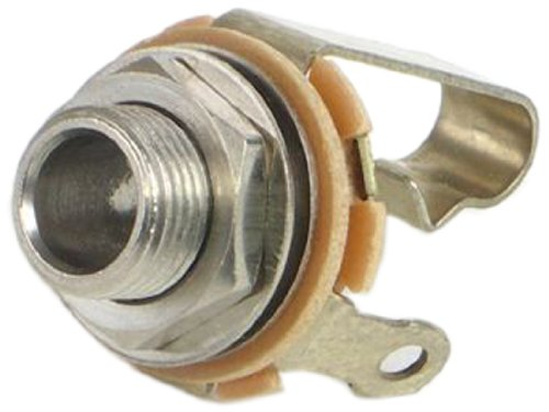 Switchcraft 11 Mono Female 1/4-Inch Jack with Nut and Washer, Nickel (Switchcraft Metal)