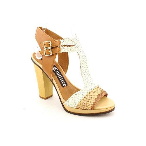 Juicy Heel Platform Sandal (Juicy Couture Crista 2 Woven Sandals (8.5, Natural/Eggshell/carmel))