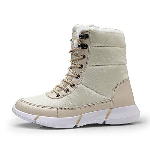 Femme Outdoor Bottes Chaudes Randonnée Hiver Confortable Beige 36 Eu Chaussures De Boots Plates Kemosen Lacer Neige Bottines Homme Fermeture 48 wqZpCp