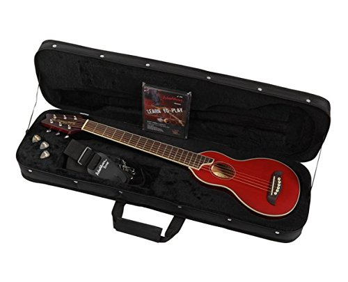 Stock Package - Washburn Rover RO10 6-String Travel Acoustic Guitar Package - Red B-Stock