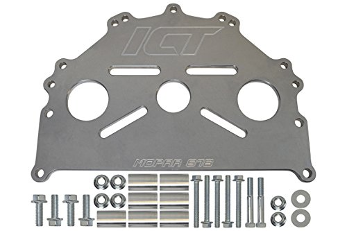 ICT Billet Engine Safe - Stand Adapter Plate Compatible with Mopar LA B RB Hemi Heavy Duty Saver 551876