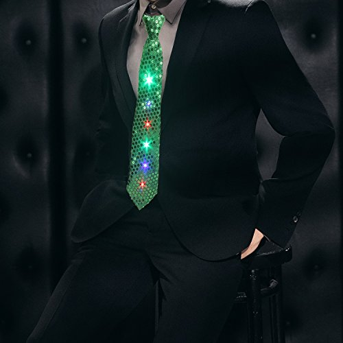 Light Up Ties Daxin Dx Led Sequin Neck Ties Novelty