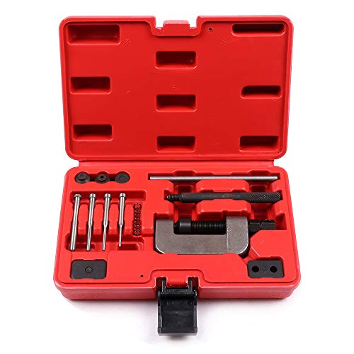 (ECCPP Chain Cutter Breaker Riveting Rivet Tool Set for ATV/Bike/Motorcycle/Cam)