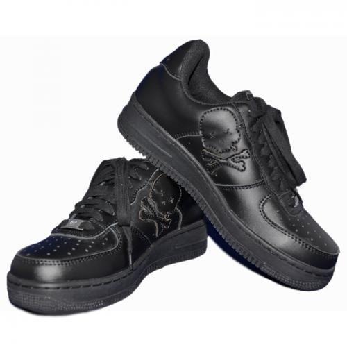 [アインソフオウル] Ain Force1 Lowcut Plain Sneaker/BLK ローカット スニーカー B00BQQPEQC  28.0 cm