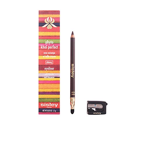 Sisley Phyto Khol Perfect Eyeliner with Blender and Sharpener for Women, 10 Ebony, 0.05 Ounce ()