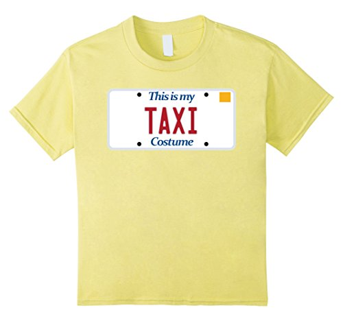 unisex-child Taxi t-shirt; generic costume tshirt; silly Halloween tee 4 (Yellow Taxi Costume)