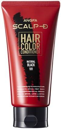 アンファー (ANGFA) スカルプD ヘアカラーコンディショナー ナチュラルブラック 男性用 白髪染め 150g 豆乳発酵液
