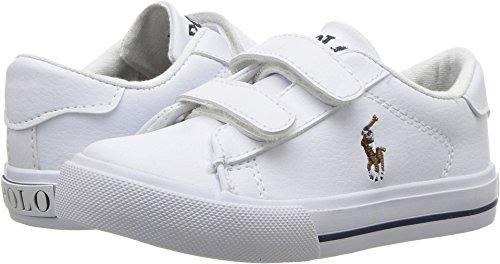 Polo Ralph Lauren Kids Baby Easton II EZ Sneaker, White Tumbled Multi pop, 8 Medium US Toddler (Shoes Girls Ralph Lauren)
