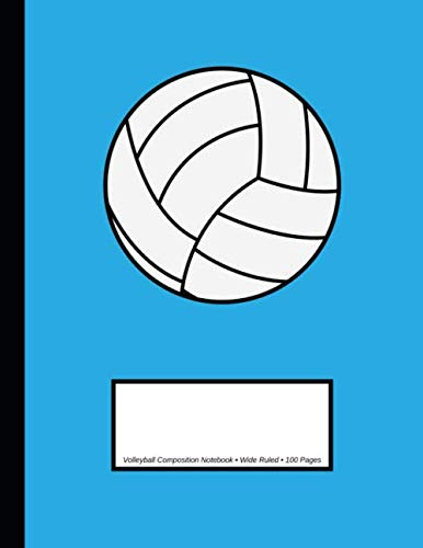 Volleyball Composition Notebook: Wide Ruled | 100 Pages | One Subject Daily Journal Notebook | Volleyball Sky Blue por Sports Legendz
