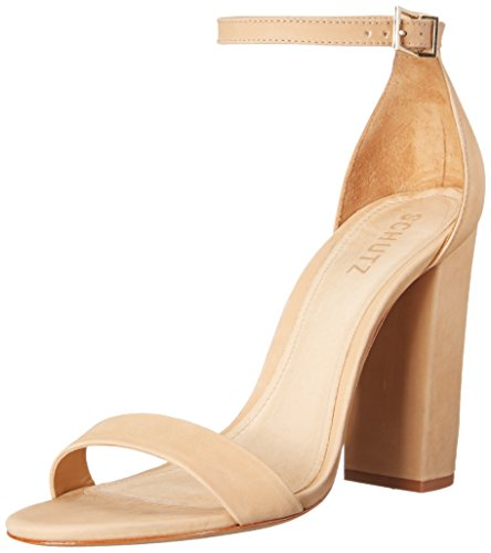 Schutz Women's Enida Dress Sandal, Lightwood, 8.5 M US