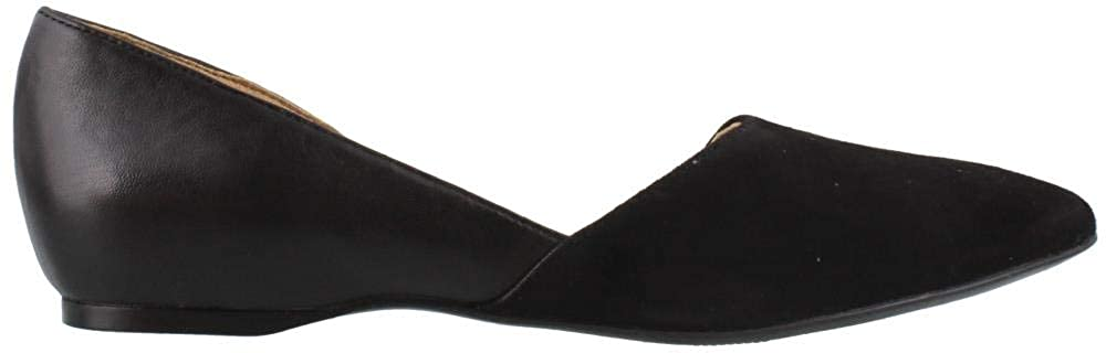 Black Leather Naturalizer Women's Samantha Pointed Toe Flat