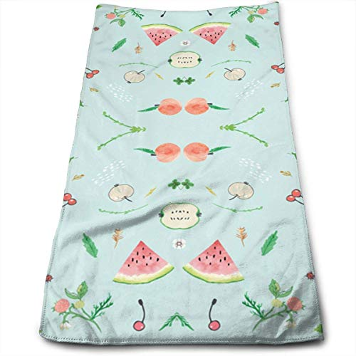 Microfiber Salad (Fruit Salad Multi-Purpose Microfiber Towel Ultra Compact Super Absorbent and Fast Drying Sports Towel Travel Towel Beach Towel Perfect for Camping, Gym, Swimming.)
