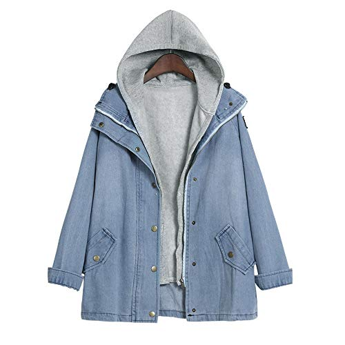 LISTHA Winter Parka Outwear Women Warm Collar Hooded Coat Jacket Denim Trench
