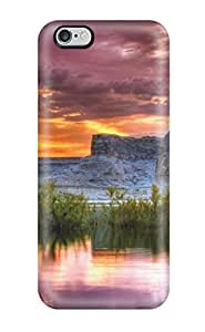 For Iphone 6 Plus Premium Tpu Case Cover Yellow And Purple Skies Protective Case
