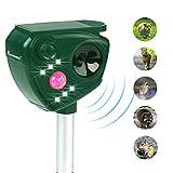 FAYINWBO Animal Pest Repeller, Solar Powered Ultrasonic Pest Repellent, Outdoor Waterproof Pest Control,Motion