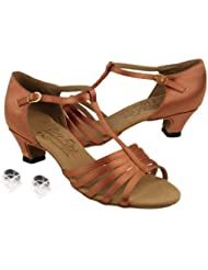 Ladies Women Ballroom Dance Shoes Very Fine EKS9273 Signature 1.2 Cuban Heel with Heel Protectors