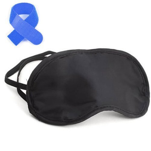 Gleader 100% Silk Eye Mask/Sleep Mask with Silk Floss Filling-Black +Free Cable Tie