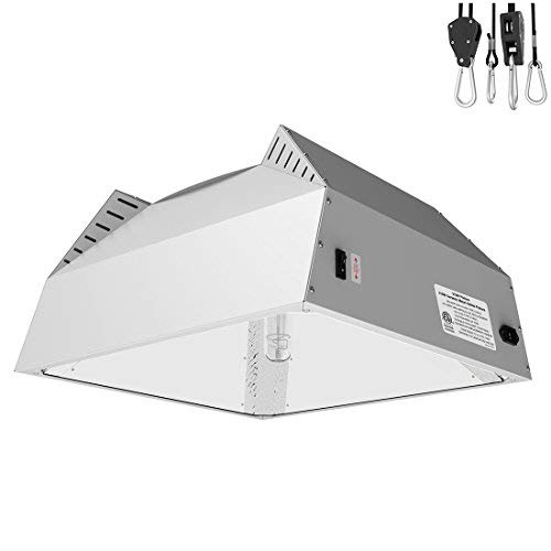 VIVOSUN 315W Ceramic Metal Halide CMH Grow Light Kit with Italian Vega Aluminum Hood Designed for Even Coverage, Built-in 120/240V Ballast and Upgraded Cooling, ETL Listed