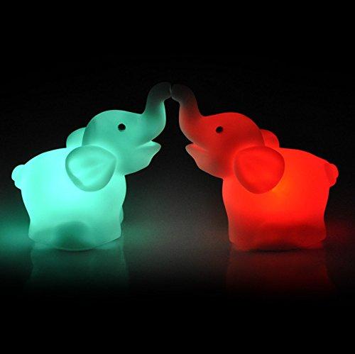 Gotian 2Pcs Elephant Color Changing geführt Night Light Lamp Wedding Party Zuhause Decor