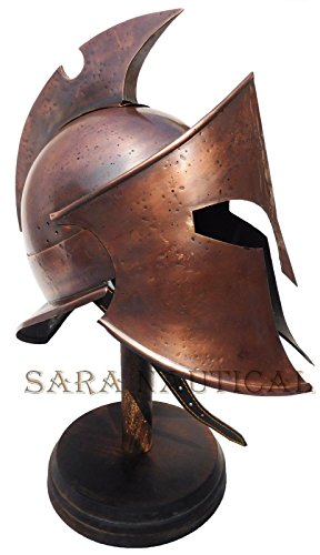All Metal 300 Spartan Helmet Metal Collectible Decorative Antique Item Halloween Helmet by Expressions Enterprises