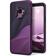 Galaxy S9 Case Ringke [WAVE] [Metallic Purple] Dual Layer Heavy Duty 3D Textured Shock Absorbent PC TPU Full Body Drop Resistant Protection Modern Design Cover for Samsung Galaxy S9 (2018)