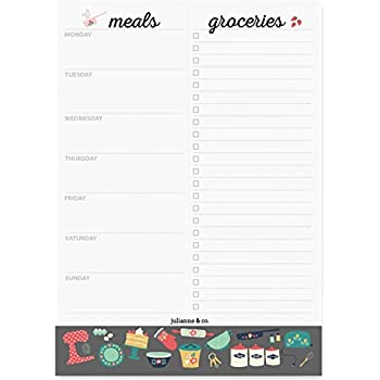 amazon com bloom daily planners weekly meal planning pad tear