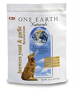 <tab> One Earth Dog Buiscuit, Brewer's Yeast and Garlic, 22-Ounce (Pack of 6)