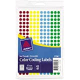 Avery Assorted Removable See-Through Color Dots, 0.25-Inch Round, Pack of 864 (5796)