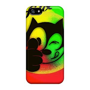 Bumper Hard Cell-phone Cases For Iphone 5/5s With Customized Vivid Felix The Cat Image JonathanMaedel