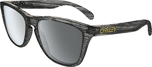 Oakley Men's Frogskins (a) Polarized Iridium Rectangular Sunglasses, Matte Brown Tortoise, 54 - Oakley Black Tortoise