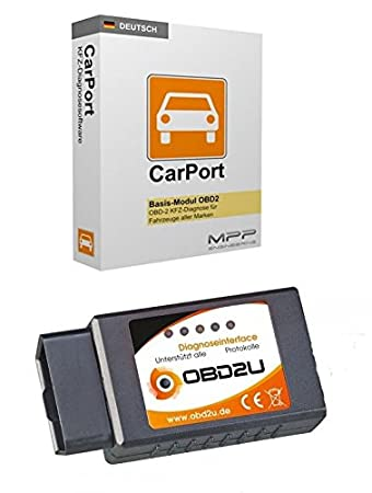 Bluetooth OBD 2 Diagnose-Interface Gerät Carport SOFTWARE DEUTSCH ...
