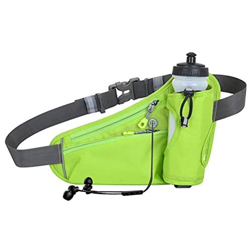 ARTOCT Loopriem met waterfles houder,Outdoor Taille Pack Lichtgewicht Running Hydratatie Riem voor hardlopen Fietsen…