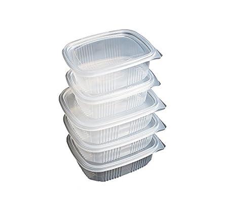 Pack de 50 recipientes desechables con tapa, para alimentos. APTA ...