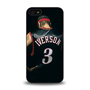 NBA Great Player Allen Iverson nicknamed A.I. The Answer Cool Design #15 Matt Feel Hard Plastic iPhone 5 Case Protective Skin Cover