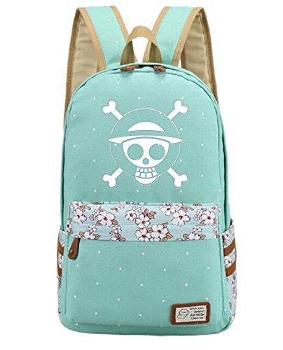 Zoro Cosplay Costume (YOYOSHome Luminous Anime One Piece Cosplay College Bag Daypack Bookbag Backpack School Bag (Green))