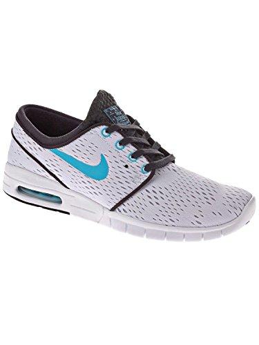 Nike Men's Stefan Janoski Max White/Clearwater/Anthracite/Blk Running Shoe 12 Men US