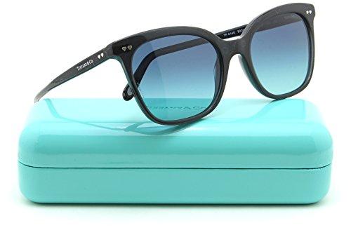 Tiffany & Co. TF 4140 Women Square Gradient Sunglasses (SILVER SERIGRAPHY/Blue Gradient 82329S, - Tf Sunglasses