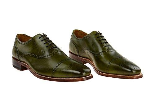 Gordon & Bros Lucquin 2830-b Herenschoenen Mannen Zakelijke Schoenen, Lace Up Brogues, Kleding Schoenen, Derby Schoenen, Goodyear Alameda Groen
